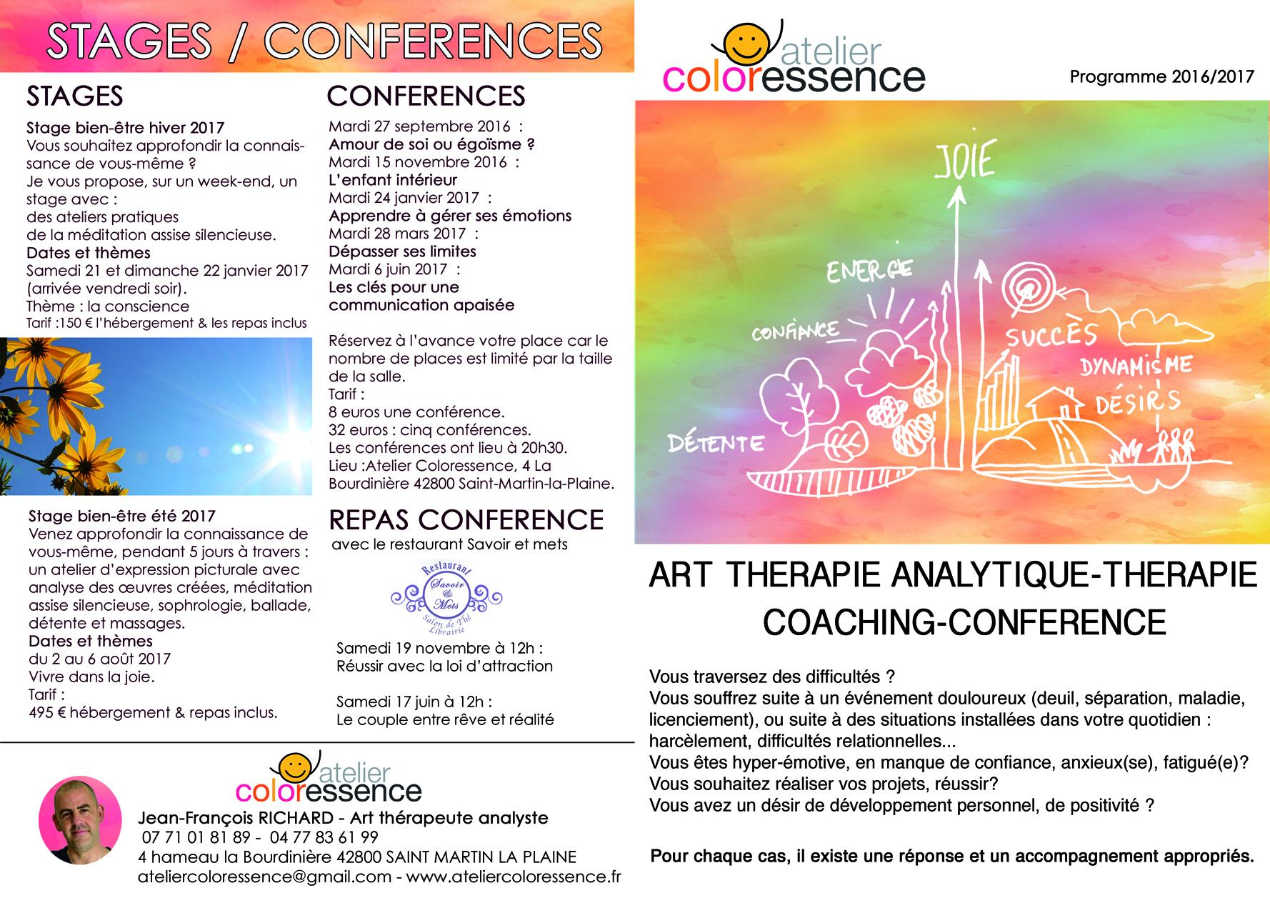 Couverture plaquette 2016-2017 atelier Coloressence