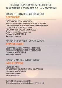 Apprendre à méditer Atelier Coloressence Saint Martin la Plaine