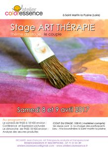Stage art thérapie 8 et 9 avril 2017