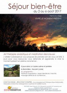 Stage méditation pleine conscience Lyon : séjour bien être : août 2017 - 5 jours pour vous ressourcer et apprendre à vivre le moment présent