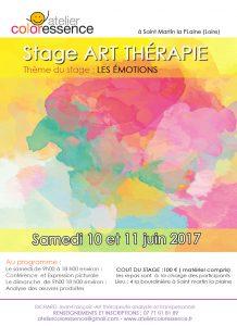 Stage art thérapie samedi 10 et 11 juin 2017