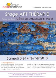 Art thérapie Lyon weekend d'art thérapie Saint Martin la Plaine Atelier Coloressence