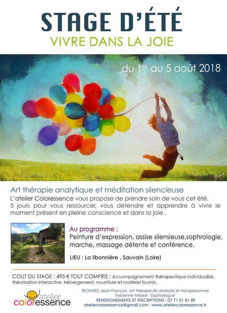 Joie de vivre stage d'été du 1er au 5 août 2018