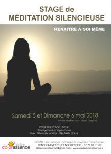 Stage de méditation Rhône Alpes Loire Atelier Coloressence