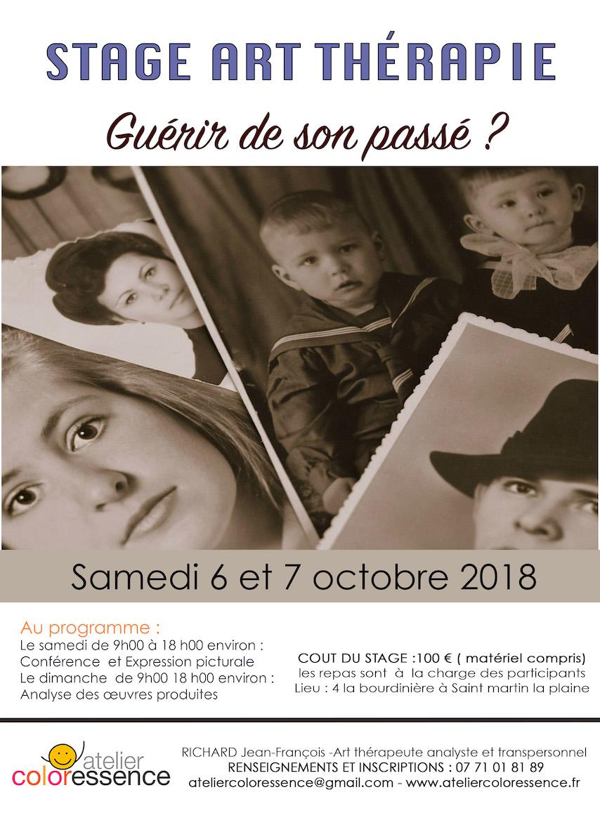 Atelier d'art thérapie 6 -7 octobre 2018 : Guérir de son passé ?