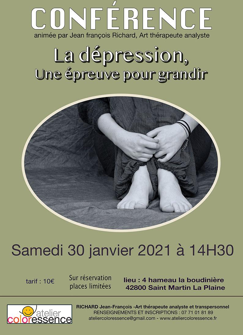 La dépression, une épreuve pour grandir - Atelier Coloressence St Martin la Plaine