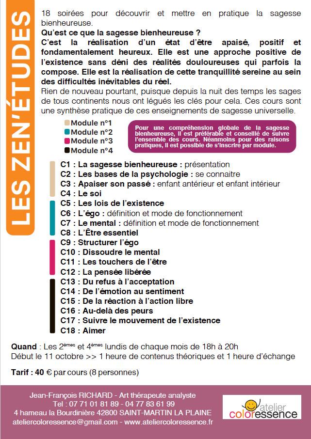 Flyer Zen'Études